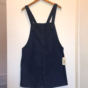 Forever 21 denim overall dress size L